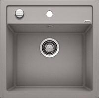 Кухонная мойка Blanco DALAGO 5 SILGRANIT PuraDur алюметаллик с клапаном-автоматом (518522)