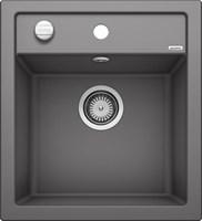 Кухонная мойка Blanco DALAGO 45 SILGRANIT PuraDur темная скала с клапаном-автоматом (518846)