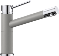 Смеситель для кухонной мойки Blanco ALTA Compact хром/алюметаллик (515316)