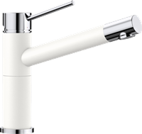 Смеситель для кухонной мойки Blanco ALTA Compact хром/белый (515317)