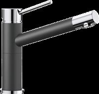 Смеситель для кухонной мойки Blanco ALTA Compact хром/антрацит (515323)