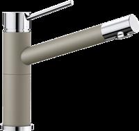 Смеситель для кухонной мойки Blanco ALTA Compact хром/серый беж (517633)