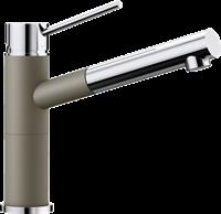 Смеситель для кухонной мойки Blanco ALTA-S Compact хром/серый беж (517634)
