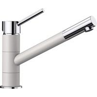 Смеситель для кухонной мойки Blanco KANO белый/хром  (525030)