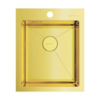 Кухонная мойка Omoikiri Akisame 41-LG нерж.сталь/светлое золото(4973080)