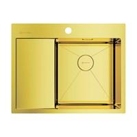 Кухонная мойка Omoikiri Akisame 65-LG-R нерж.сталь/светлое золото(4973084)