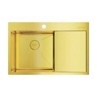 Кухонная мойка Omoikiri Akisame 78-LG-L нерж.сталь/светлое золото(4973085)