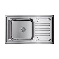 Кухонная мойка Omoikiri Haruna 86-IN нерж.сталь/нержавеющая сталь (4993451)