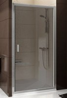 Душевая дверь раздвижная Ravak Blix BLDP2-110 сатин +грейп  (0PVD0U00ZG)