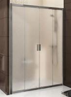 Душевая дверь раздвижная Ravak Blix BLDP4-120 сатин+транспарент  (0YVG0U00Z1)