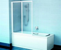 Шторка для ванны Ravak VS2 105 сатин+транспарент (796M0U00Z1 )