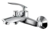 Смеситель для ванны RUSH Island IS6535-44 с душем короткий излив хром