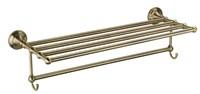 Полка для полотенец с крючками Fixsen Retro FX-83815A