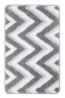 Коврик для ванной Fixsen River  серый 50х80 см.  (FX-5004K)