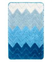Коврик для ванной Fixsen Deep  голубой 50х80 см. (FX-5003C)