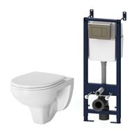 Комплект: инсталляция с подвесным унитазом, с сиденьем микролифт и клавишей AM.PM Sense IS374A1738 (IS374A1738)