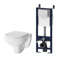 Комплект: инсталляция с подвесным унитазом, с сиденьем микролифт и клавишей AM.PM Sense IS301.74A1738 (IS301.74A1738)