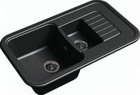 Мойка для кухни EWIGSTEIN Antik ( A- 60KF черный ) 1,5-чаш + крыло. 860*510