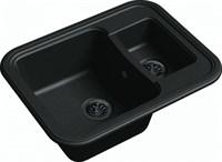 Мойка для кухни EWIGSTEIN Antik ( A- 60К черный ) 1,5 -чаш 660*510