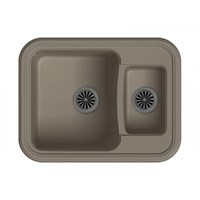 Мойка для кухни EWIGSTEIN Antik ( A- 60К темно-бежевый ) 1,5 -чаш 660*510