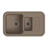 Мойка для кухни EWIGSTEIN Antik ( A- 60KF темно-бежевый ) 1,5-чаш + крыло. 860*510