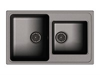 Мойка для кухни EWIGSTEIN Elegant ( E- 80D черный ) 2-чаш 780*480