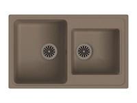 Мойка для кухни EWIGSTEIN Elegant ( E- 80D темно-бежевый ) 2-чаш 780*480