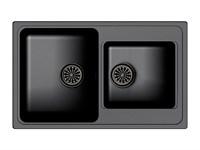 Мойка для кухни EWIGSTEIN Elegant ( E- 80D антрацит ) 2-чаш 780*480