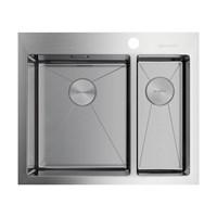 Кухонная мойка Omoikiri Akisame 60-2-IN-L нерж.сталь/нержавеющая сталь (4993775)