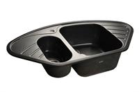 Мойка для кухни GranFest CORNER C-960 E  (C-960 E  черный) 505x950