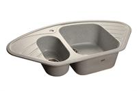 Мойка для кухни GranFest CORNER C-960 E  (C-960 E  серый) 505x950