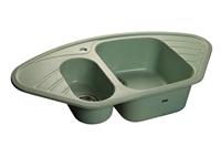 Мойка для кухни GranFest CORNER C-960 E  (C-960 E  салатовый) 505x950
