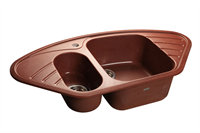 Мойка для кухни GranFest CORNER C-960 E  (C-960 E  красный марс) 505x950