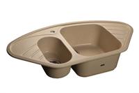 Мойка для кухни GranFest CORNER C-960 E  (C-960 E  бежевый) 505x950