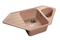 Мойка для кухни GranFest CORNER C-950 E  (C-950 E  светло-розовый) 485x930