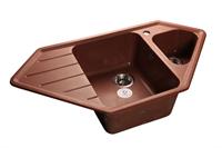 Мойка для кухни GranFest CORNER C-950 E  (C-950 E  красный марс) 485x930