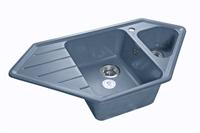 Мойка для кухни GranFest CORNER C-950 E  (C-950 E  графит) 485x930