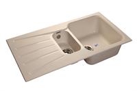 Мойка для кухни GranFest STANDART S-940 KL  (S-940 KL  белый) 492x927