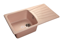 Мойка для кухни GranFest STANDART S-850 L  (S-850 L  светло-розовый) 475x830