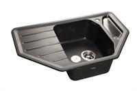 Мойка для кухни GranFest CORNER C-800 E  (C-800 E  черный) 490x790