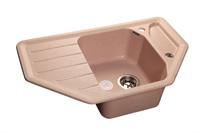 Мойка для кухни GranFest CORNER C-800 E  (C-800 E  светло-розовый) 490x790