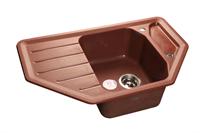 Мойка для кухни GranFest CORNER C-800 E  (C-800 E  красный марс) 490x790
