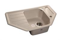 Мойка для кухни GranFest CORNER C-800 E  (C-800 E  белый) 490x790