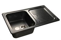 Мойка для кухни GranFest STANDART S-780 L  (S-780 L  черный) 500x775