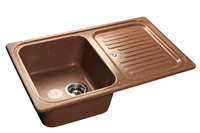 Мойка для кухни GranFest STANDART S-780 L  (S-780 L  терракот) 500x775