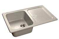 Мойка для кухни GranFest STANDART S-780 L  (S-780 L  серый) 500x775