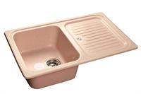 Мойка для кухни GranFest STANDART S-780 L  (S-780 L  светло-розовый) 500x775