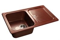 Мойка для кухни GranFest STANDART S-780 L  (S-780 L  красный марс) 500x775