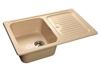 Мойка для кухни GranFest STANDART S-780 L  (S-780 L  бежевый) 500x775