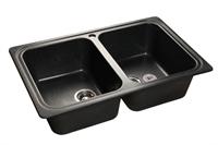 Мойка для кухни GranFest STANDART S-780 K  (S-780 K  черный) 500x786